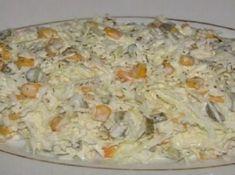 Dlouho jsem hledala dobrý recept na zelný salát, dokud jsem neobjevila tento – chutná nejlépe! Shrimp Pasta, Pasta Salad, Ham, Potato Salad, Seafood, Cabbage, Salads, Vegetables, Cooking