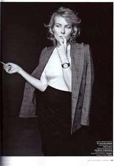 "Russian actress and director Renata Litvinova wearing ""Zaccheo"" blazer from AW2012 in Russian Vogue, September issue"
