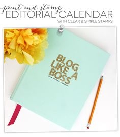 Be an organized blogger - Handbound Editorial Calendar | Damask Love Blog