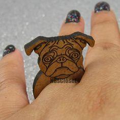 $5... Pug Dog Ring