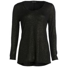 Longsleeve Shimmer Tee ($98) ❤ liked on Polyvore featuring tops, t-shirts, shirts, sweaters, long sleeves, blusas, woven shirts, long sleeve woven shirt, t shirt and shimmer tops