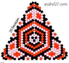 freebeadpattern triangle треугольник из бисера схема