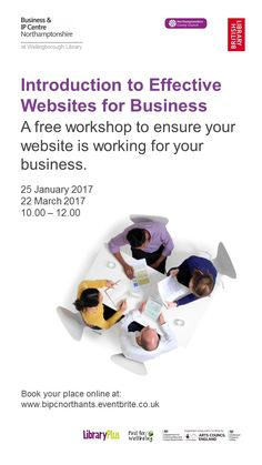 Free business support workshop at Wellingborough Library.