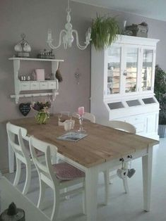 Shabby Chic Dining Room Ideas Images) - Home Magez Shabby Chic Dining Room, Chic Kitchen, Chic Furniture, Chic Dining Room, Country Style Furniture, Diy Home Decor, Diy Home Decor Projects, Home Furniture, Shabby Chic Homes