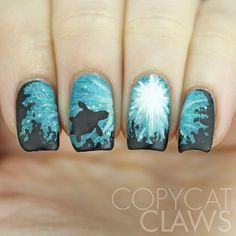 Copycat Claws: The Digit-al Dozen does Nature: Day 1 Sea Turtle Nail Art