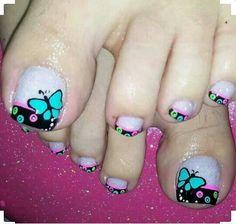 Cute Pedicure Designs, Pretty Nail Designs, Toe Nail Designs, Pedicure Nail Art, Toe Nail Art, Acrylic Nails, Pretty Toe Nails, Feet Nails, Toenails