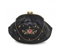 Denise Francelle Purse at MadgesHatbox.  Lovely vintage evening purse by French accessories designer Denise Francelle. Purse has a very pretty