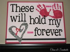 Sweet Valentine's Day handprint canvas! I want to do this with my boyfriends hands lol, and eventually my kids hands