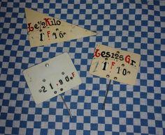 3 étiquettes anciennes de commerce en francs de la boutique FRANCEDECO sur Etsy