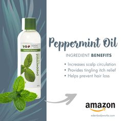 Peppermint Oil provides that tingling sensation that soothes a dry, itchy scalp. It also increases scalp circulation which can help promote hair growth. Treat your scalp to these and benefits with the Collection from EDEN BodyWorks! Peppermint Oil Hair, Peppermint Oil Benefits, Peppermint Tea, Peppermint Patties, Pepermint Oil, Oil For Hair Loss, Itch Relief, Essential Oils For Hair, Itchy Scalp