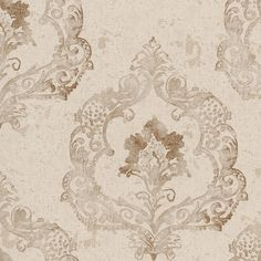 An exquisite canvas of crushed velvet and a radiant damask pattern make the Beacon House Luca Crushed Velvet Damask Wallpaper a regal way to dress your. Damask, Damask Linen, Brewster Wallpaper, Cream Wallpaper, Embossed Wallpaper, Damask Wallpaper, Wallpaper Stores, Linen Wallpaper, Crushed Velvet