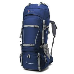 Mountaintop Outdoor Sport Water-resistant Internal Frame Backpack Hiking Backpack Backpacking Trekking Bag with Rain Cover YKK buckle for Climbing camping Travel and Mountaineering Camping And Hiking, Hiking Gear, Camping Gear, Backpacking Gear, Hiking Tips, Backpack Brands, Travel Backpack, Molle Backpack, Internal Frame Backpack