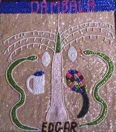 Haitian Voodoo Art Flag DAMBALA by EDGAR Folk by VisionaryVoodoo