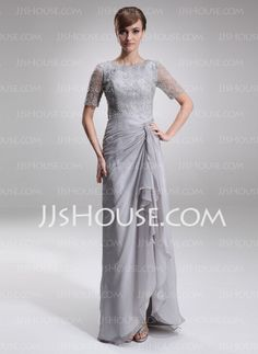 Mother of the Bride Dresses - $166.99 - A-Line/Princess Scoop Neck Floor-Length Chiffon Charmeuse Mother of the Bride Dress With Lace Beading (008005621) http://jjshouse.com/A-Line-Princess-Scoop-Neck-Floor-Length-Chiffon-Charmeuse-Mother-Of-The-Bride-Dress-With-Lace-Beading-008005621-g5621