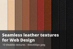 Seamless leather swatches - Jpg + illustrator ~ Textures on Creative Market #creativemarket