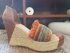 Espadrilles, Wedges, Summer, Shoes, Fashion, Chains, Pearls, Espadrilles Outfit, Summer Time