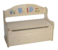 Personalized Childrens Toy Box Or Deacons Bench For Kids