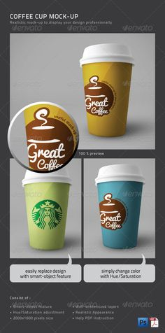 Coffee Cup Mock-Up Download here: https://graphicriver.net/item/coffee-cup-mockup/1239656?ref=KlitVogli