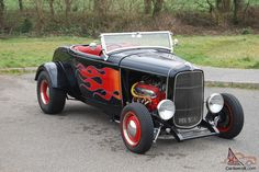 Ford 1932 Model B Highboy Roadster Hotrod Custom Drag Race Chevy Bigblock