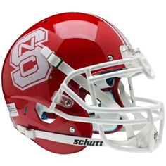 North Carolina State Wolfpack Red Schutt XP Authentic Helmet - Alternate 1