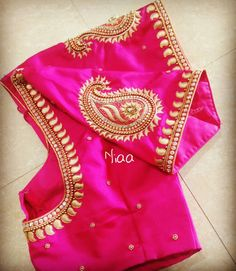 Mango design on pink blouse Cutwork Blouse Designs, Pattu Saree Blouse Designs, Simple Blouse Designs, Stylish Blouse Design, Bridal Blouse Designs, Blouse Neck Designs, Pink Blouse Design, Neckline Designs, Blouse Patterns
