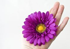 Fun Purple Daisy Hair Flower  by EllieAndM