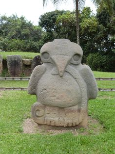 Bird statue at San Agustin, Colombia