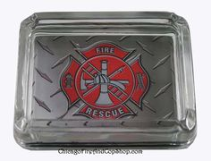6316 Fire Rescue Ash Tray Chicago Fire Department and Chicago Police Department gifts.