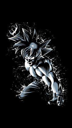 Rage Goku in Black and White Goku Super Saiyan Blue, Poster Prints, Dragon Ball Goku, Artwork, Anime, Anime Dragon Ball Super, Dragon