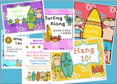 All Y'all Need: Surf Speech/Language Bulletin Boards and Giveaway!
