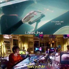 "#Stitchers 1x01 ""A Stitch in Time"" - Kirsten and Linus"