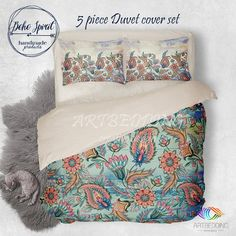 Queen size watercolor world map bedding boho chic blue world map bohemian bedding vintage paisley boho duvet bedding set vintage duvet cover set chaby chic bedding boho bedspread gumiabroncs Image collections