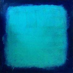tuerkis-dunkelblau-stanko  ::: 40x40 ::: Öl auf MDF-Platte - 2012