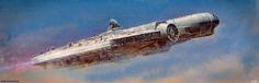 Starwars - Falcon Thrust! , Paul Wiz Johnson on ArtStation at https://www.artstation.com/artwork/4a4yY