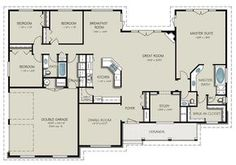 Country Style House Plan - 4 Beds 3 Baths 2563 Sq/Ft Plan #427-8 Floor Plan - Main Floor Plan - Houseplans.com