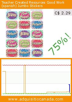 Teacher Created Resources Good Work (spanish) Jumbo Stickers (Office Product). Drop 75%! Current price C$ 2.29, the previous price was C$ 9.04. https://www.adquisitiocanada.com/teacher-created-resources/good-work-stickers