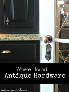 Affordable Ideas for Antique Hardware for Doors, Kitchen Cabinets, & Drawers.