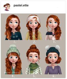 Apa jadinya kalo rambutnya Moana jadi yang keriting cantik jadi lurus hitam legam? Atau gimana jadinya rambut Rapunzel yang panjangnya minta ampun itu digelung ke atas? Nggak bisa ngebayangin? Jangan sedih. Karena sudah dibuatkan oleh Linnea, seorang ilustrator melalui posting-annya di akun instagra
