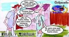 Frases, chistes, anécdotas, reflexiones y mucho más.: Chiste Frijol y Tortilla, Golpeado contar hasta diez, Nuestro Diario Guatemala.