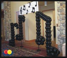 Decoração com notas musicais para aniversário | Decoração e Projetos