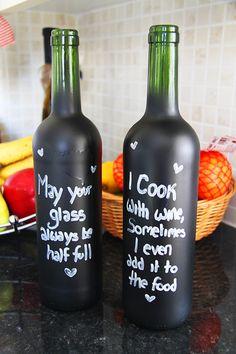Home DIY: How to Create Chalkboard Bottles – Bespoke-Bride: Wedding Blog