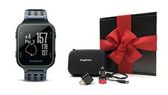 Garmin Approach S20 (Slate) Gift Box Bundle | Includes Golf GPS Watch/Activity Tracker, PlayBetter USB Car