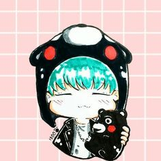 My lockscreen #suga#kumamon by mich__le