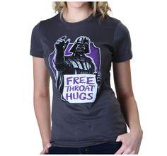Womens Star Wars Free Throat Hugs T-Shirt