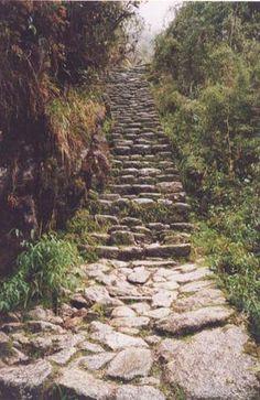 Inca Trail in Machu Piccu.