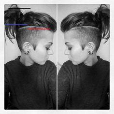 "suzie on Instagram: ""#photography #ootd #potd #makeup #urbandecay #tongue #piercings #bodmods #girlswithpiercings #girlwithshorthair #sidecut #undercut…"" - #promhairupdowithbraid Hair A, Hair Type, Red Hair, Quick Hairstyles, Wedding Hairstyles, Half Braid, Gold Hair Colors, Colored Curly Hair, Curly Wedding Hair"