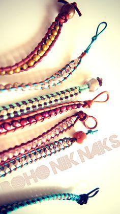 Boho Bracelets <3  My kids love crafty things like this.