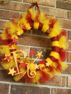 Harry Potter Inspired Tu-Tu Wreath- House of Gryffindor -made to order with your initial. $40.00, via Etsy.