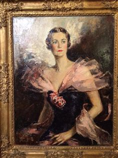 Potrait of the 10th Duchess of Marlborough at Blenheim Palace.