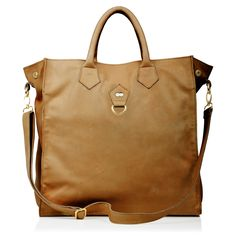 #Business #Bag TONI in Biscuit #Brown Goat #Leather with #golden hardware